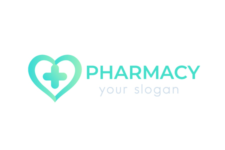 pharmacy vector logo isolated on white Vettoriali