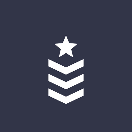 Military rank, army vector