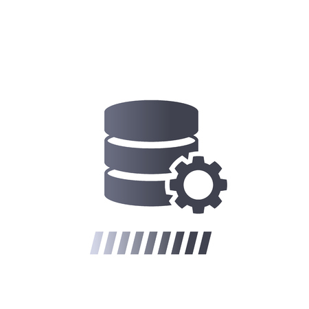 data processing vector icon Çizim