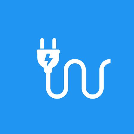 electric plug icon, vector