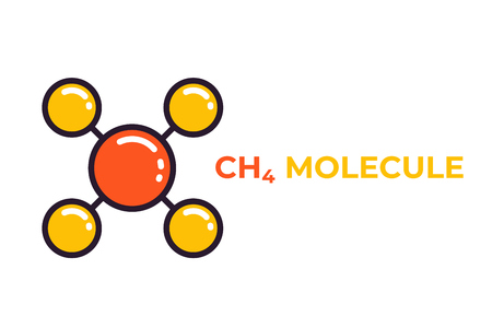 methane molecule icon Illustration