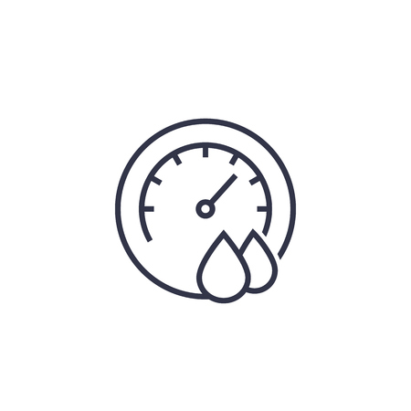 Hygrometer vector line icon
