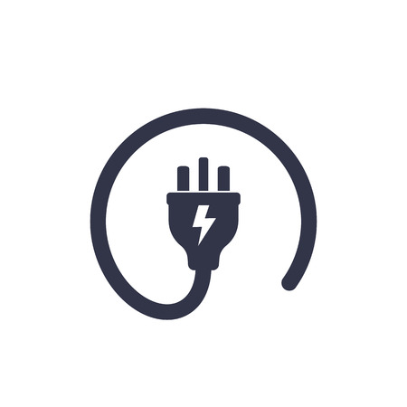 uk electric plug icon Illustration