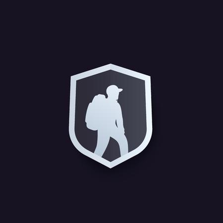 Hiker vector logo
