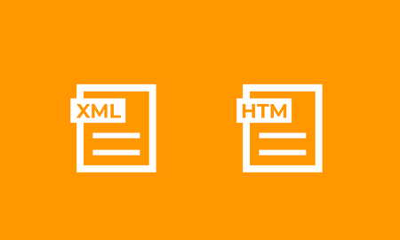 XML, HTM documents icons