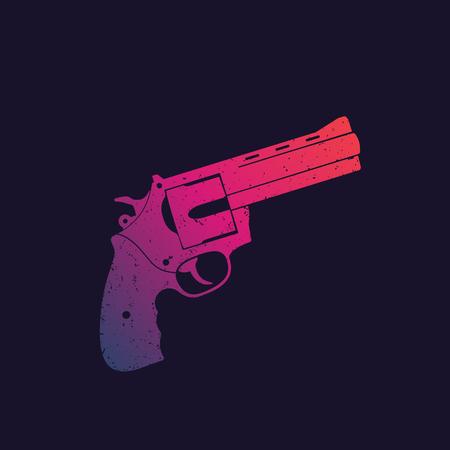 revolver, compact handgun, gun vector