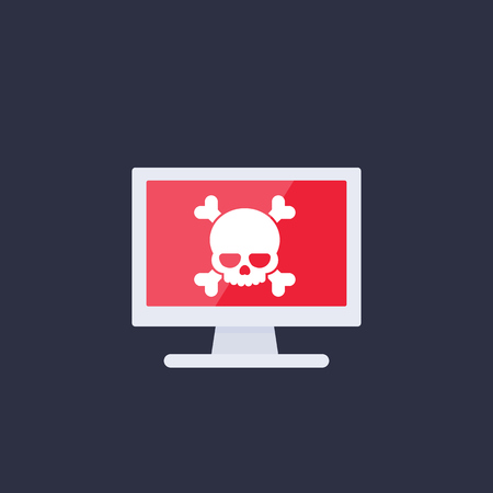 malware, spam, online scam, computer virus, security threat icon