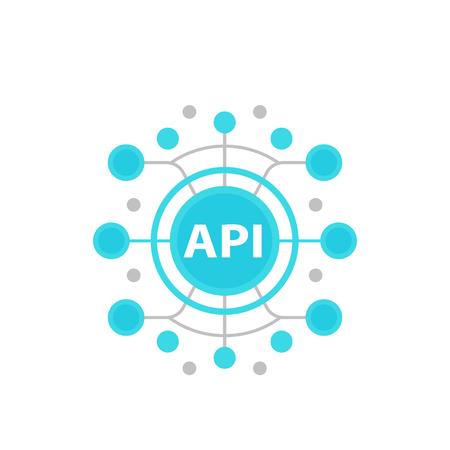 API, Anwendungsprogrammierschnittstellenvektorillustration