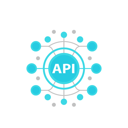 API, ilustración de vector de interfaz de programación de aplicaciones