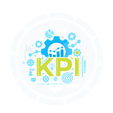 KPI, Key Performance Indicator, management concept, business analytics vector