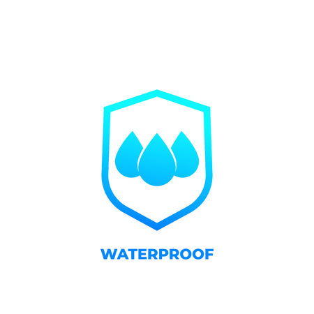 waterproof icon, water resistant vector