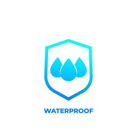 waterproof icon, water resistant vector Imagens - 108202632
