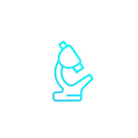 Microscope minimalistic icon, linear style 矢量图像