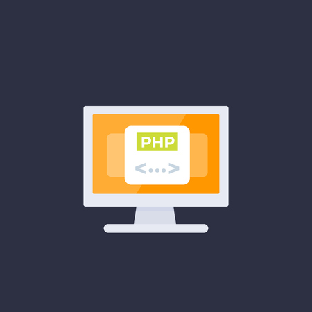 PHP coding, programming vector icon 向量圖像