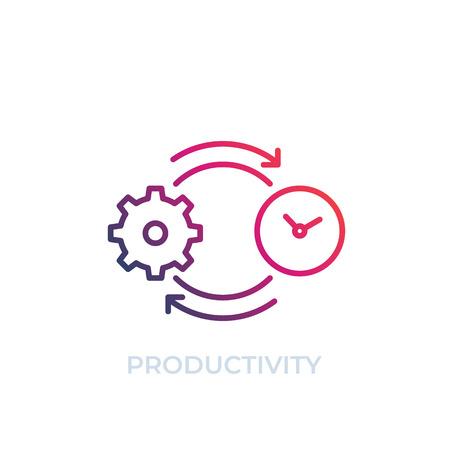 productivity vector icon, line art
