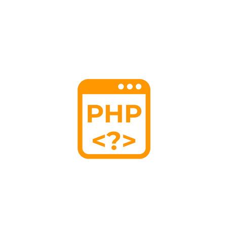 PHP coding vector icon Illustration