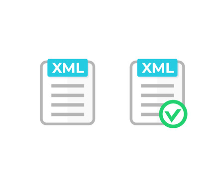 XML document with check mark icon