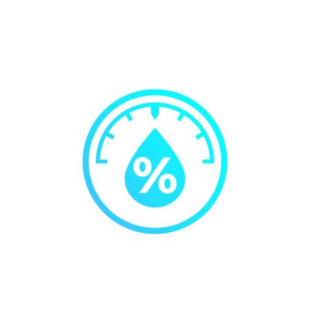 Luftfeuchtigkeit, Wasserstandskontrolle Vektorsymbol Vektorgrafik