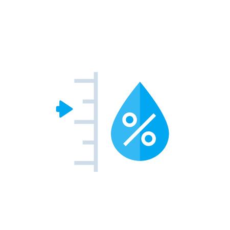 vecteur de niveau d'humidité Vecteurs
