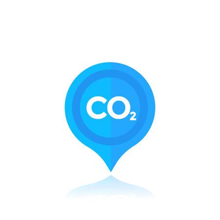 co2, carbon emissions marker Illustration