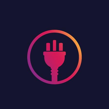 enchufe eléctrico del reino unido, vector