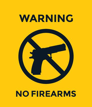 no guns sign, no firearms warning Çizim