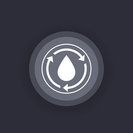 Water recycle icon