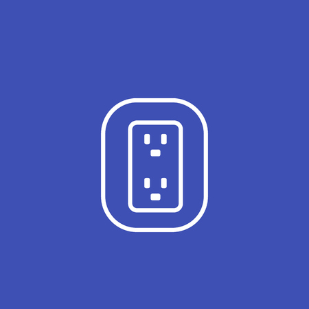 uk, british socket vector icon