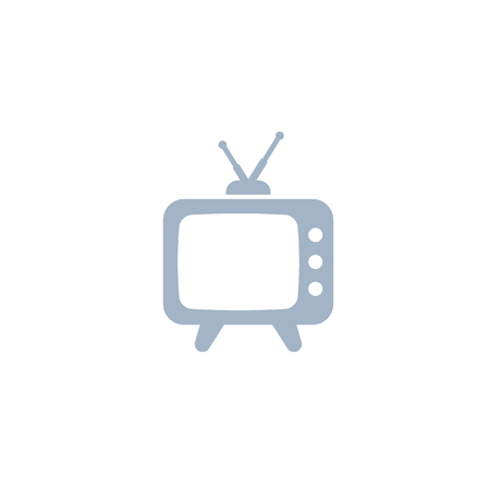 tv with antenna, old television icon Vecteurs