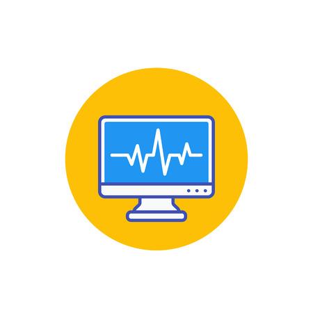 ecg, electrocardiography, heart diagnostics icon