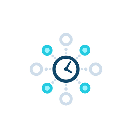 time management, planning vector icon on white