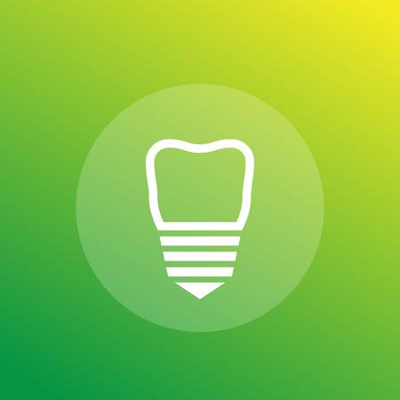 dental implant vector icon
