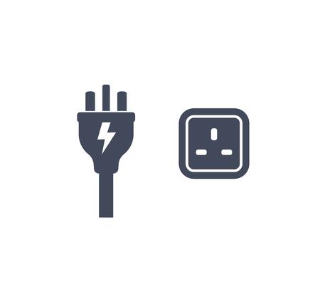 uk plug and socket icon