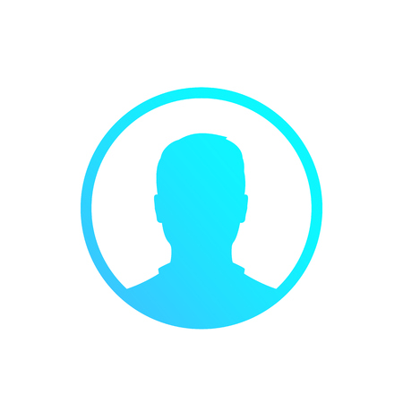 Default avatar, placeholder, profile icon, male Illustration