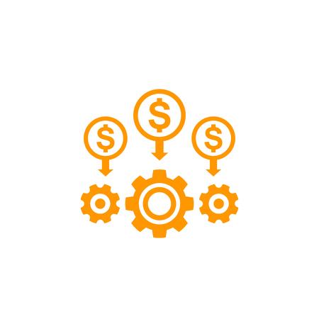 Kostenreduzierung und Effizienz Vektorgrafik