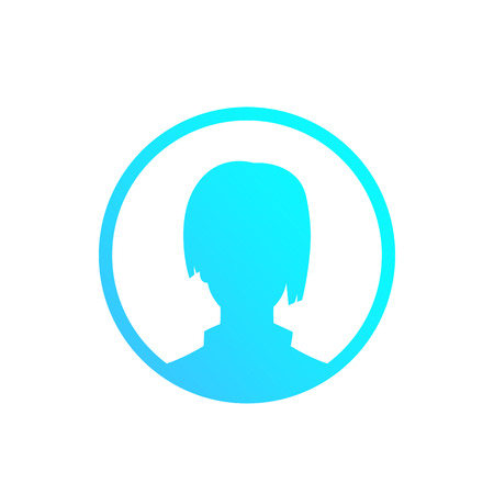 profile placeholder, default avatar, girl Illustration