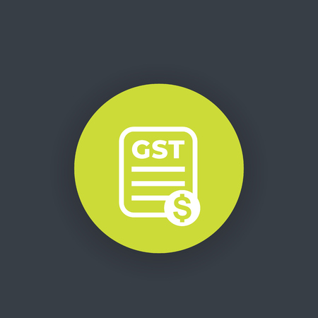 GST, goods and service tax, payroll Illustration