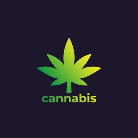 Marijuana leaf, cannabis vector logo