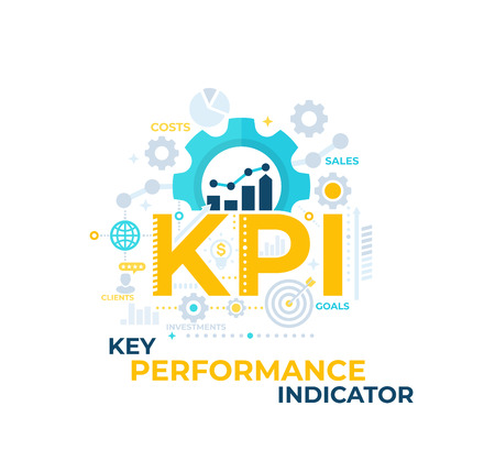 KPI, Key Performance Indicator vector illustration