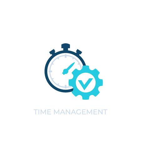 time management vector icon on white
