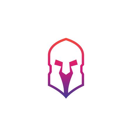 Spartan helmet, vector logo with gradient