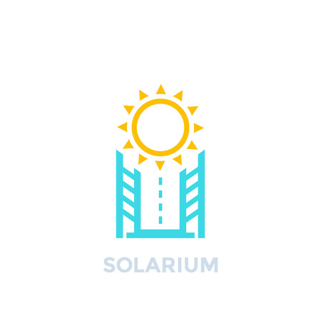 solarium icon on white, vector