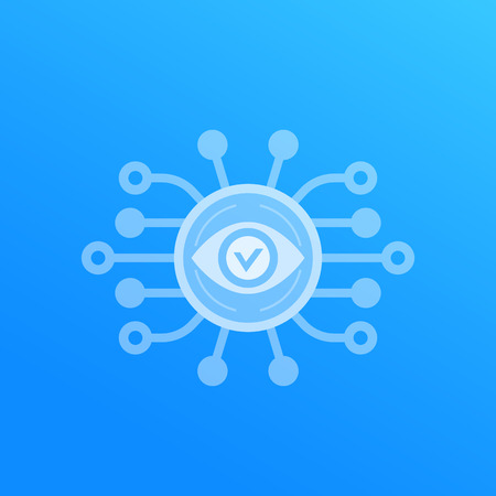 Monitoring service vector icon