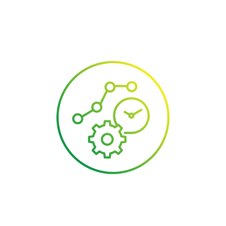 productivity, efficiency icon, linear style