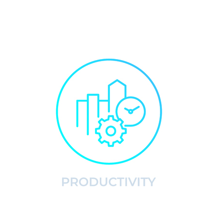 productivity icon, linear style