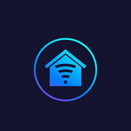 Smart house app vector logo