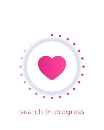 dating app vector, love search