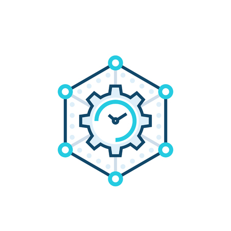 time management, business planning vector icon