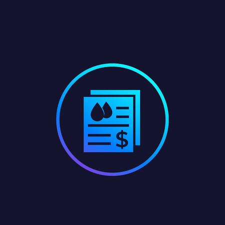 water utility bills vector icon