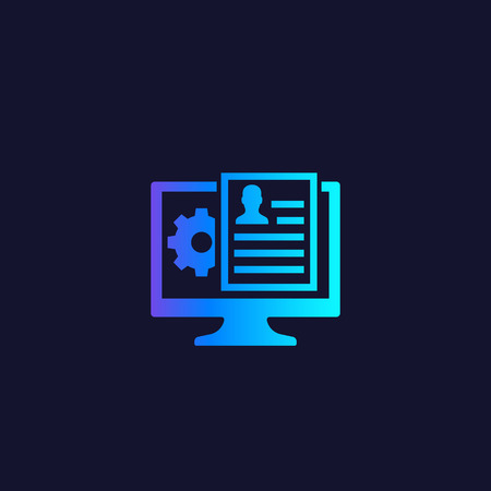 Human Resources software vector icon
